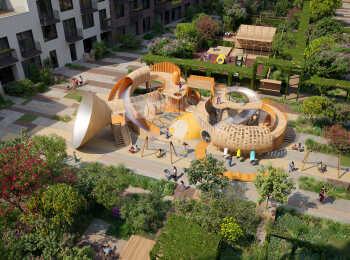 Многоуровневая детская площадка